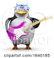 3d Funky Penguin With Guitar