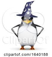 3d Wizard Penguin