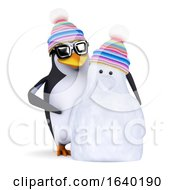 3d Penguin And Snowman by Steve Young