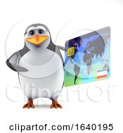 3d Penguin Using A Debit Card