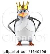 3d Penguin Is Regal