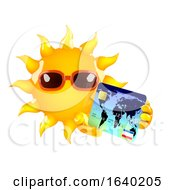 3d Sun Character Pays With A Credit Card
