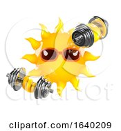 3d Sun Weightlifter by Steve Young