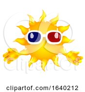 3d Sun Character Wearing 3d Glasses by Steve Young