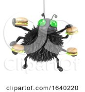 3d Spider Likes Burgers by Steve Young