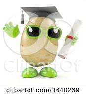 Poster, Art Print Of 3d Graduate Potato