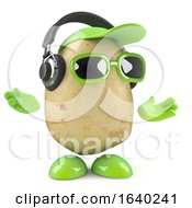 3d Potato Listens On Headphones by Steve Young