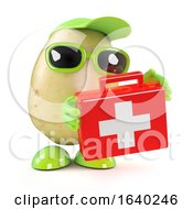 3d Potato With First Aid Kit by Steve Young