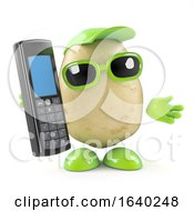 3d Potato Chats On His Cellphone by Steve Young
