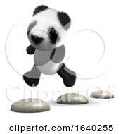 3d Panda Stepping Stones by Steve Young