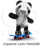 3d Panda Skateboarder by Steve Young