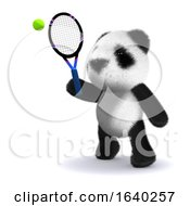 3d Tennis Panda by Steve Young