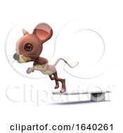 3d Mouse Dives Into The Pool by Steve Young