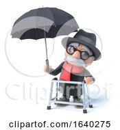 3d Grandpa Has An Umbrella