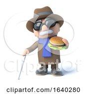 3d Blind Man Eats A Burger