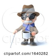 3d Blind Man Has A Tea Break by Steve Young