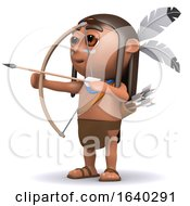 3d Indian Boy Fires Arrow by Steve Young