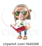 3d Hippie Stoner Reads A Good Book