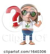 Poster, Art Print Of 3d Hippie Stoner Has A Question