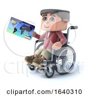 3d Boy In Wheelchair Pays With A Debit Card