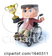 3d Boy In Wheelchaird Has Won A Gold Cup