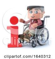 3d Boy In Wheelchair Has Information