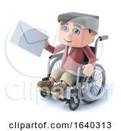 3d Boy In Wheelchair Gets Mail