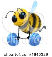 3d Bee Weightlifter by Steve Young