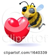 Poster, Art Print Of 3d Bee Romantic