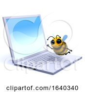 3d Bee On A Laptop by Steve Young