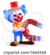 3d Clown Magnet by Steve Young
