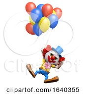 3d Clown Floating by Steve Young