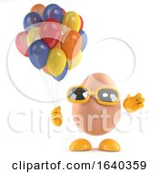 Poster, Art Print Of 3d Egg Has Some Beatiful Colored Balloons