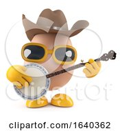 3d Cowboy Egg Playing A Banjo