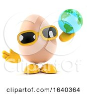 Poster, Art Print Of 3d Egg With A Globe Of The Earth