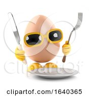 Poster, Art Print Of 3d Egg Dinner Time