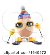 Poster, Art Print Of 3d Egg Skiing