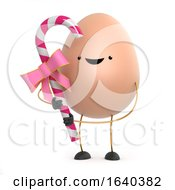 3d Cute Toy Egg Holding Some Pink Candy by Steve Young
