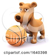 Poster, Art Print Of 3d Puppy Basketball