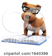Poster, Art Print Of 3d Dog Likes To Read Books