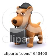 Poster, Art Print Of 3d Business Dog