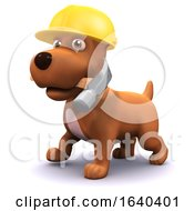 Poster, Art Print Of 3d Puppy Dog Construction Worker