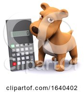 Poster, Art Print Of 3d Calculating Puppy