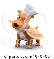 Poster, Art Print Of 3d Chef Dog With Spoon