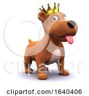 Poster, Art Print Of 3d Puppy Dog Gold Crown Champion