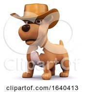 Poster, Art Print Of 3d Sheriff Puppy