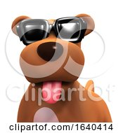 3d Puppy Dog In Cool Shades by Steve Young