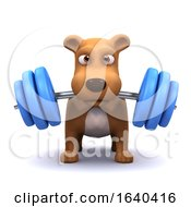 Poster, Art Print Of 3d Dog Powerlifter