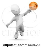 3d Little Man Plays Basketball