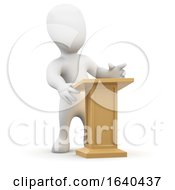 3d Little Person At The Lectern